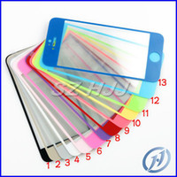 0. 4mm Colorful Tempered Glass for iphone 4 4S 5 5S Screen Pr...