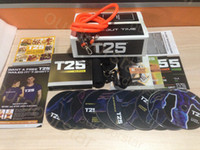 Cheap Shaun T's Rockin' Body 10 DVDs Workout Set Focus T25 It's About Time Muscle Training Body Building Fitness Video With Resistance Bands