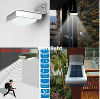 Cheap Wholesale-407-Outdoor Solar Induction Motion Sensor 16LEDs Street Light Garden Road Lawn Lamps outdoor wall Lamps Free Shipping