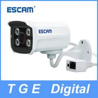 Wholesale ESCAM Brick QD300 HD720P P2P Cloud IP Camera IR Bullet H ONVIF Day Night Dual Stream MM Lens Waterproof Motion Detection IR Cut leds