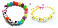 Wholesale mix colors letter Silicone beads rainbow loom kits DIY Charm Rainbow loom rubber band accessories drop shipping sale in a bag