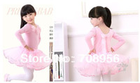 Cheap Retail-Free shipping-New Girls Pink Leotard Ballet Tutu Gymnastics Skate Dance Birthday Party Skirt Dress Costume SZ3-8Y China