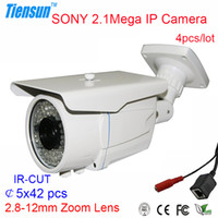 Cheap HOT SALE Sony Home Security HD Network IP Cameras 40m IR Distance 1080P 2.1PM 1920x1080 2.8-12mm Varifocal Lens Built-in ICR White-CC40