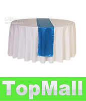 Wholesale JJ921 quot Round white polyester table cloth banquet tablecloths