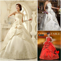 Cheap Actual Images 2013 autumn car flower embroidery Strapless Ball Gown Floor length Lace up wedding dresses Bridal gown