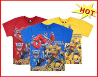Wholesale 2014 transformers prime baby boys tees cotton short sleeve shirts new arrival hot sale kids shorts baby tees baby clothes melee