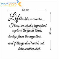muslim art - life is like camera art quote wall decal zooyoo8205 home decoration living room removable DIY vinyl Muslim wall stickers