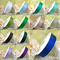 Wholesale Double sided polyester tape ribbon ribbon ribbon candy box gift box packaging material holding flowers wedding supplies yards