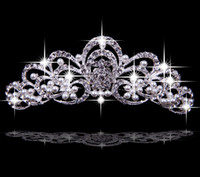 Cheap FJ0213 Hair Accessories Korea Shining Wedding Bridal Crystal Veil Tiara Crown Headband Crown Wedding