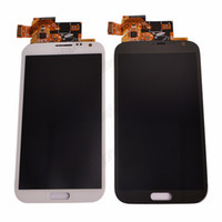 Wholesale Full LCD Display Touch Screen Digitizer Assembly for Samsung Galaxy Note II N7100 N7105 I317 White gray Color