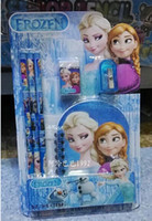 Wholesale School sets Frozen Romance notepad pencil in stationery sets DHL freeship