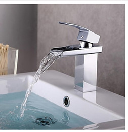 Wholesale Modern Chrome Widespread Basin Faucet Single Handle Sink Mixer Tap Deck Mounted