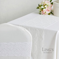 Wholesale European American minimalist fashion coffee table flag table flag white lace table runner mat decorative tablecloths