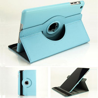 Cheap Litchi 360° Rotating Stand Leather Case For iPad Air 5 iPad 2 3 4 Mini Retina Magnetic Tablet PC Cases Folding Folio Smart Cover opp Bag