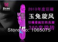 Cheap free shipping.Dibe Rabbit Vibrator Of Tunable Speed Telescopic Rotating G Spot Vibrator Big Dildo Sex Products For women Sex Toys 100pcs lot