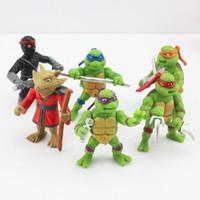 Wholesale New Fashion set TMNT Teenage Mutant Ninja Turtles action Figures PVC toys Plastic dolls birthday Christmas gift