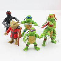 teenage fashion - Retail New Fashion set TMNT action Figures Teenage Mutant Ninja Turtles PVC toys Plastic dolls birthday Christmas gift