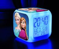 Wholesale 201407H frozen Alarm Clock After the Snow Queen Snow Adventure Romance colorful color cartoon alarm clock