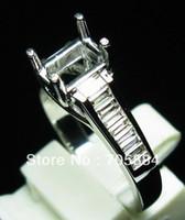 emerald cut diamonds - 0 CT EMERALD CUT SOLID K WHITE GOLD NATURAL DIAMONDS WEDDING ENGAGEMENT SEMI MOUNT SETTING RING