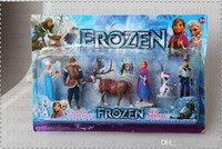 Wholesale New Arrival Frozen Anna Elsa Hans Kristoff Sven Olaf PVC Action Figures Toys Classic Toys dolls Cartoon Anime Movies