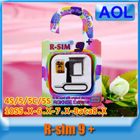 auto nano - New R SIM r sim9 Perfect SIM Card AUTO Unlock Official R SIM9 nano cloud universally compatible S C S iOS5 X X X Bata8 X