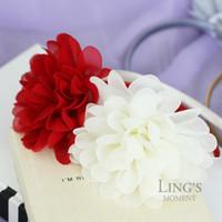 Wholesale Korean version of the big flower children s hair bands hair bands for girls chiffon flowers sweet princess tiara headband