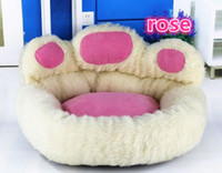 Wholesale NEW Polar bear bear paw kennel Warm Teddy pet nest Ultra plush high quality dog house color M kg