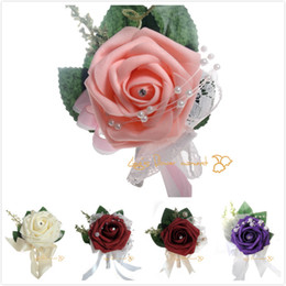 Groomsmen   groom boutonniere corsage simulation activities guests foam rose corsage bride   bridesmaid corsage