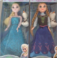 Wholesale Made in China Frozen Princess Dolls Action Figure Toys Classic Play Set Elsa Anna Olaf inch