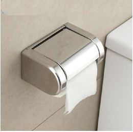 Wall Mount Chrome Bathroom Toilet Paper Holder Stainless Steel Tissue Paper Box