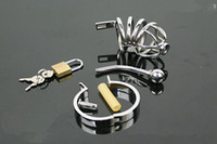 Cheap Wholesale - Stainless steel Male chastity BOUNDAGE devices smaller Cage Urethral Tube BDSM hot new free shipping