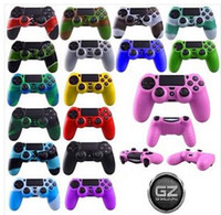 Wholesale Colorful Soft Silicone Gel Rubber Case Skin Grip Cover For SONY Playstation PS4 Controller