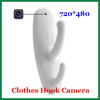 Wholesale Clothes Hook Camera Mini DV DVR Spy Hidden Camera Motion Activated White Spy Clothes Hook Cam