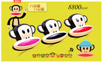 Cheap Factory direct wholesale cute cartoon mouth monkey mobile power charging treasure 8800 mA single gift