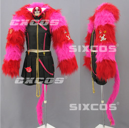 Wholesale Japan Anime Custom Made Wonderful Wonder World Boris Cosplay Costume Withe Pink Scarf Halloween Party Event Coser Cosplayer