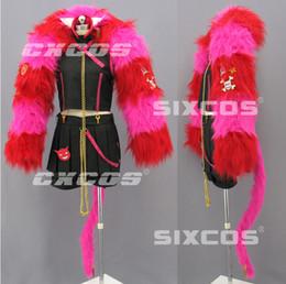 Wholesale Japan Anime Custom Made Wonderful Wonder World Boris Cosplay Costume Withe Pink Scarf