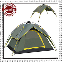 Wholesale Outdoor automatic tent ultra light three people open a big tent camping tents more than double