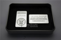 Metal apmex silver bars - New US Crafts APMEX bar DHL One ounce fine silver Plated metal commemorative souvenir coins brass silver plated pure silver bullion bar