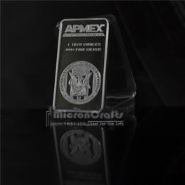 Wholesale New US Crafts APMEX One ounce fine silver Plated metal commemorative souvenir coins brass silver plated pure silver bullion bar