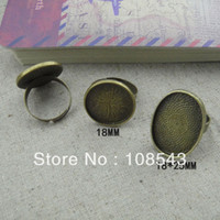 Cheap 25*18mm oval blank ring base wholesale custom DIY jewelry component accessary ring settings XMY14