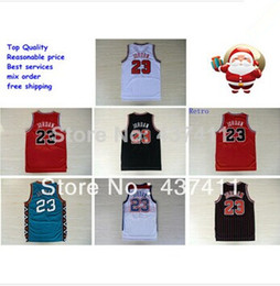Wholesale Chicago Michael Jordan white red black stripes red retro throwback vintage bullets jersey all star jersey Basketball jersey size s xxxl