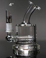 Mini-bong en ligne Avis-Tuyaux d'eau de la meilleure qualité deux fonctions nettes Mini bouteille verre cendres cendres en ligne percolateur tuyau d'eau tuyau d'huile bong Livraison gratuite