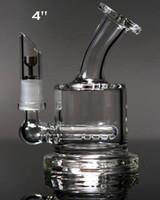Tuyaux d'eau de la meilleure qualité deux fonctions nettes Mini bouteille verre cendres cendres en ligne percolateur tuyau d'eau tuyau d'huile bong Livraison gratuite