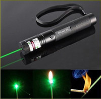 Wholesale high power mw w nm high power green laser pointers can focus burn match pop balloon charger not include battery