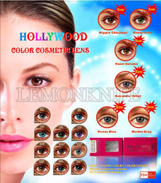 Wholesale Hollywood Luxury cosmetic color lenses pairs contact lens colors luxury lens months using contact lenses