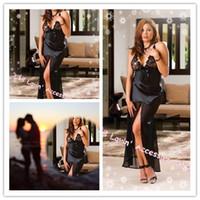 prices lingerie - Black Robe Sexy Sleepwear Underwear Lingerie Price