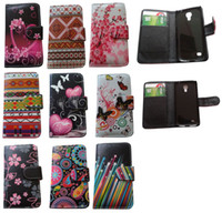 Cheap Luxury Flower Flip wallet Leather Skin Case Cover Pouch for Iphone 4 4S 5 5S 5C Samsung Galaxy S3 S4 s5 Note 3 2