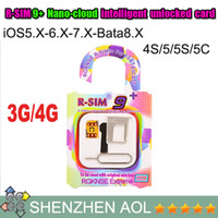 Wholesale DHL free Original R SIM9 support iOS x Bata8 X Nano intelligent unlocked card RSIM R SIM plus Perfect Unlock for iphone s c s