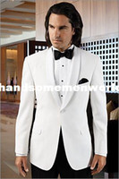 Cheap Men Suits custom made cheap New Style White Groom Tuxedos Lapel Groomsmen Men for dress Wedding groom wear Suits Free shippingfree shipping