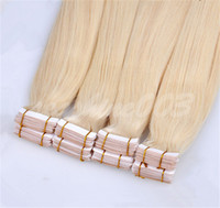 Cheap Top Quality 100% Indian Human Remy Hair PU Skin Weft Hair Extension #613 Blonde Color No Shedding Best Queen Hair Product 40pc set 3sets lot